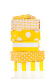 Yellow gifts stock images