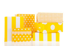 Yellow gifts Royalty Free Stock Photo