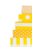 Yellow gifts Stock Photo