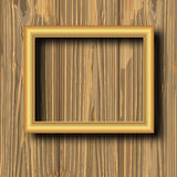 Yellow gilted frame Stock Images