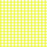Yellow gingham. Pattern with faint texture to resemble fabric Royalty Free Stock Images