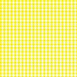 Yellow Gingham. With slight fabric texture and weave stock illustration