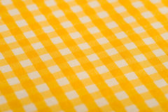 Yellow Gingham Background Royalty Free Stock Photo