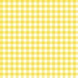 Yellow Gingham Fabric Background. A pastel yellow gingham fabric background that is seamless Stock Photo