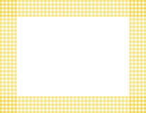 Yellow Gingham Frame. Yellow Gingham Background with center isolated for copy-space, Yellow Gingham Frame Stock Image