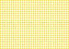 Yellow Gingham Pattern Background Stock Photos