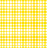 Yellow gingham. Pattern with sunrise design Stock Images