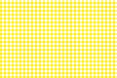 Yellow Gingham pattern. Texture from rhombus/squares for - plaid, tablecloths, clothes, shirts, dresses, paper, bedding, blankets. Quilts and other textile vector illustration