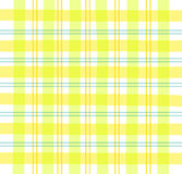 Yellow Gingham plaid. Illustration of a yellow/orange/green pastel plaid pattern Royalty Free Stock Photos