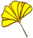 Yellow Ginkgo Leaf Design Stock Photography