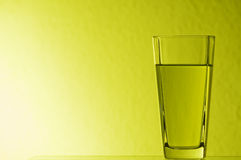 Yellow glass Royalty Free Stock Photos