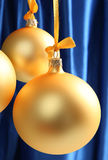 Yellow glass balls good for background Royalty Free Stock Photography