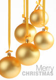 Yellow glass balls good for background Royalty Free Stock Photo