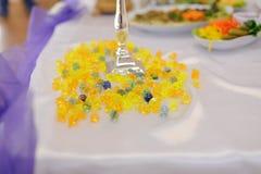 Yellow Glass Beads Stock Photography