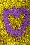 Yellow glass beads Stock Photos
