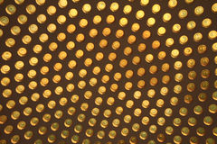 Yellow glass circle abstract background Royalty Free Stock Images