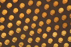 Yellow glass circle abstract background Stock Image