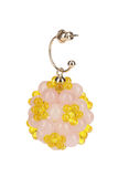 Yellow glass earrings Royalty Free Stock Images