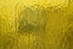 Yellow glass texture Royalty Free Stock Images