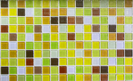 Yellow glass tiles as background Stock Photography