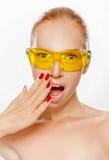 Yellow glasses Stock Photo