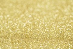 Yellow glitter light stock image