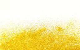 Yellow glitters background Royalty Free Stock Photography