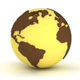 Yellow globe Royalty Free Stock Photography
