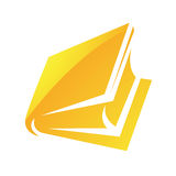 Yellow Glossy Book Icon Royalty Free Stock Photo