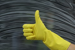 Yellow glove Stock Photo