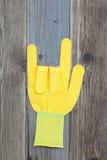 Yellow glove Royalty Free Stock Photos