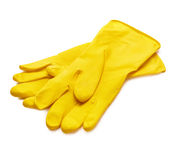 Yellow gloves Royalty Free Stock Image