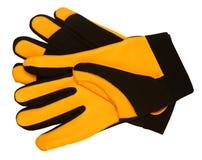 Yellow gloves Royalty Free Stock Photo