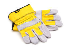 Yellow gloves Royalty Free Stock Photos