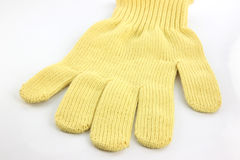 Yellow gloves. Stock Photos