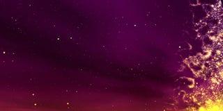 Yellow glow nebula Royalty Free Stock Images