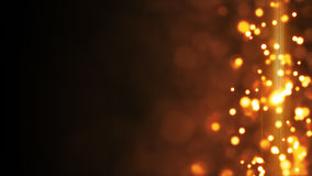 Yellow glowing bokeh lights side bar background Royalty Free Stock Photography