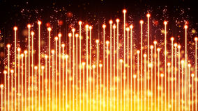 Yellow glowing musical equalizer Stock Photos