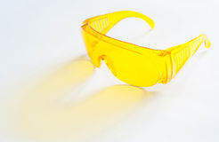 Yellow goggles Royalty Free Stock Photography