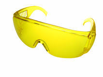 Yellow goggles, isolated Royalty Free Stock Photo