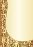 Yellow and gold background. With ornaments Stock Image
