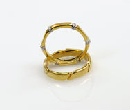 Yellow gold bands Stock Image