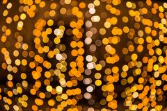 Yellow gold bokeh light background.  Royalty Free Stock Photography