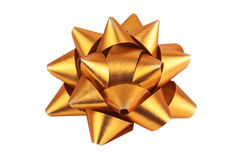 Yellow (gold) bow Stock Image
