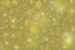 Yellow gold bubble background with Christmas lights Royalty Free Stock Photography
