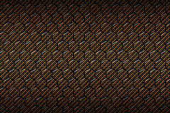 Yellow or gold carbon fiber hexagon pattern. Background and texture. 3d illustration Stock Photography