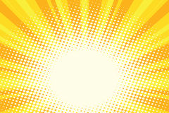 Yellow gold cartoon sunrise pop art background. Yellow gold cartoon sunrise background. Comic book vintage pop art retro style illustration vector stock illustration