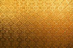 Free Yellow Gold Flower Vintage Glass For Abstract Texture And Background Stock Images - 104251344