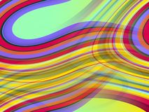 Yellow gold green pink red blue waves lines background, abstract colorful geometries. Abstract gold blue green pink violet orange sparkling blurred sparkling stock illustration