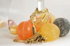 Yellow gold jewellery Stock Photo